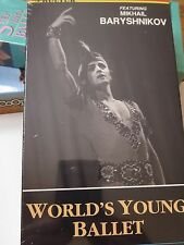 World's Young Ballet VHS Mikhail Baryshnikov Hideo Fukagawa Male Dancers NEW