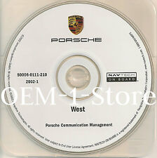 03 2004 PORSCHE CARRERA 911 4S BOXSTER S NAVIGATION MAP CD WEST US OR ID NM CO