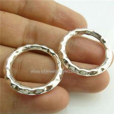 14901*10x Silver Round 27mm Ring Pendant Connecter Fashion Jewelry Alloy Antique