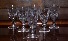 "Set of 6 Stuart Cut Crystal Port Wine Glasses 4"" Glengarry Cambridge Signed"