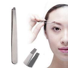 Hot Stainless Steel Eyebrow Tweezerette Tweezer Professional Beauty Slant Tip HS