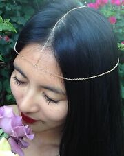 14K Gold-filled or Sterling Silver Head Chain/Head Piece/Chakra Chain/Headband
