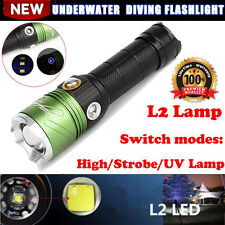 500M Dive CREE XML L2 LED Scuba Diving Flashlight 5000 LM Torch Underwater Lamp