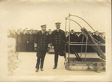 1918 original photo of king george v with admiral roebeck onboard the k.g.v