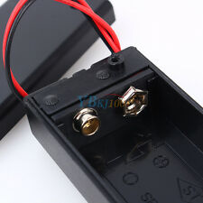 New 9V Volt PP3 Battery Holder Box DC Case with Wire Lead ON/OFF Switch Cover