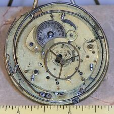 RARE LARGE VERGE FUSEE REPEATER POCKET WATCH MOVEMENT 53.5mm FOR PARTS / RESTORE