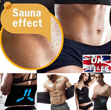 UK Men Ladies Fitness Stomach Reducer Sauna Belt Waist Toning Workout Tummy Belt