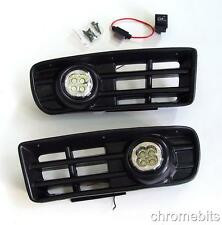LED FOG DRL DAYTIME RUNNING LIGHTS LAMPS GRILLE SET FOR VW GOLF MK4 IV 1997-2006