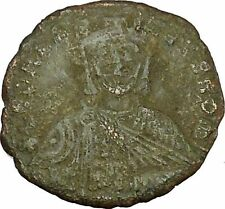 Leo Vi, the Wise w purple silk roll 886Ad Ancient Medieval Byzantine Coin i40175