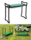 PORTABLE FOLDING GARDEN KNEELER CHAIR SEAT KNEE PAD PADDED STOOL + TOOL POUCH