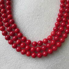 A String of Real Coral beads Choice of Colour & Shape - 6mm Round, 7x4mm Rice
