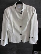 Akris Punto ivory cotton/linen jacket size US 10 F 42 D 40 made in Italy