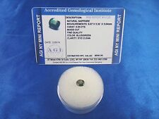 Natural Blue Green Oval Sapphire 0.93 Cts Certified Appraisal $500 AGI BS11