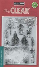 """Vintage Christmas Wishes"" PolyClear Stamp Set by Hero Arts"