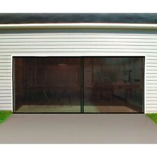 16 Ft. W X 7 Ft. H Double Garage Door Screen Magnetic Closure Weighted Bottom