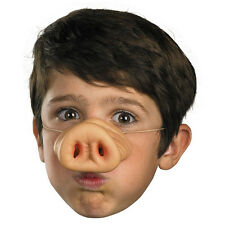 Pig Nose w/Band Costume Rubber Snout Adults Children Halloween Funny Tricks Gift