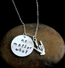 No matter what ASL,I love you,bff necklace Long Distance Relationship Hope,Faith