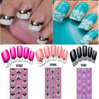 Hot Transfer 3D Lace Design Nail Art Sticker Decal Manicure Tips DIY Decoration