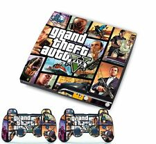 For PlayStation 3 Slim PS3 Console + Controller Vinyl Skins Cover Decal-GTA