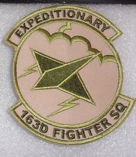 USAF FLIGHT SUIT PATCH,163RD EXPED FIGHTER SQN,IN ANG,MULTICAM,SCORPION,W/VELCRO