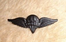 US ARMY,USAF,PARACHUTE RIGGER BADGE , SUBDUED, METAL,LARGE