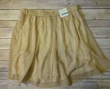 NWT Old Navy Pleated Elastic Waist Jupe Skirt medium TALL mustard printed