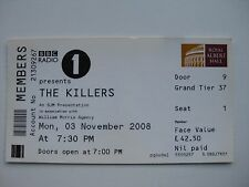 THE KILLERS  LONDON  03/11/2008 TICKET