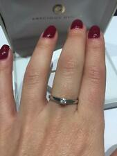 CLEARANCE SALE 9CT WHITE GOLD DIAMOND SOLITAIRE RING 0.15CT II3 DIAMOND RING