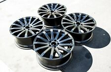 MRR HR9 19x8.5 Rims 5x114.3 +25 Black Wheels Fits Aggressive Accord Rx8 Maxima