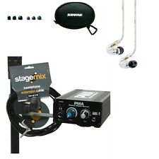 Elite Core EC-PMA-SP Hard Wired In Ear Monitor System w/ Shure SE215CL Earbuds