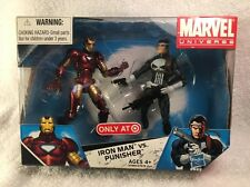 "Marvel Universe IRON MAN VS PUNISHER 'War Zone' 3.75"" Figure Set Target NEW MIB"