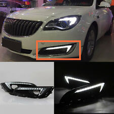 2x White LED Daytime Running Lights Drive Lamps For Buick Regal DRL 2014-2017