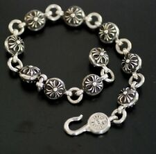 CHROME HEARTS Sterling silver Cross Charm Ball Bracelet!