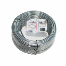 Galvanised Steel Tension Straining Line Wire Fencing Chain Link - 25m x 2.5mm