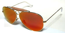 RAY BAN 3138 58 SHOOTER GOLD ORO ORANGE MIRROR SPECCHIATO PERSONALIZZATO REMIX