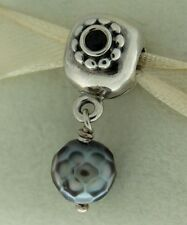 Authentic Pandora 790873PSG Pearl of Wisdom Grey Clip Sterling Silver Bead Charm