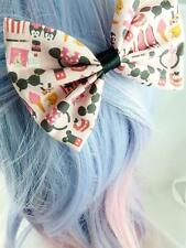 Kawaii Pastel Pink Hair Bow Minnie Cute Girly Fabric Hair Clip