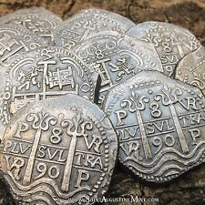 Potosi 8 Reales 1ozt 999 Silver, TREASURE cob. Hand struck. REPRO. Pirate Coin