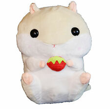 Cute Hamster Plush Backpack Cream 43cm