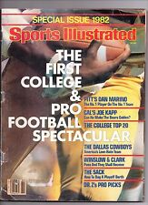 SPORTS ILLUSTRATED SP. ISSUE 82 1ST COLLEGE & PRO FOOTBALL ARTICLE PITT'S MARINO
