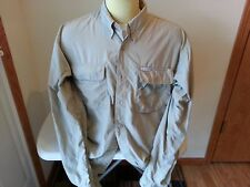 Columbia GRT tan long sleeve button down - mens large - armpit to armpit = 24""