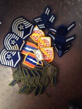 LOT OF 22 US MILITARY PATCHES STRIPES WORLD AND SWORD W LIGHTNING BOLT STARS