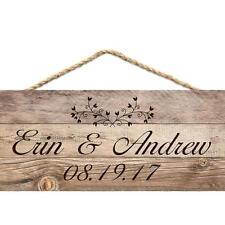 "Personalized Laser Engraved Wood Plaque, WEDDING COUPLE BARN DOOR, 16"" x 12"""