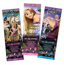TANGLED RAPUNZEL BIRTHDAY PARTY INVITATION TICKET CARD CUSTOM INVITE baby shower
