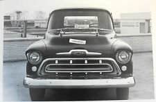 """12 By 18"""" Black & White Picture 1957 Chevrolet Pickup front view"""