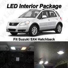 7 x Suzuki SX4 Xenon White SMD LED Interior Bulbs Kit + License Plate Lights