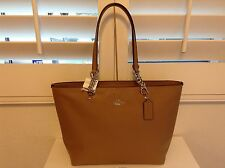 NWT. COACH PEBBLE LEATHER SOPHIA TOTE BAG HANDBAG BROWN 36600