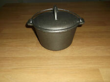 Cast Iron Black Pot Camping Cooking Pot Stock Pot Camp Fire Pan 1 Litre