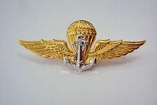 Royal Thai Navy Parachutist Metal Wings Badge Gold plate