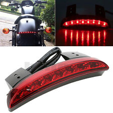 BRAKE TAIL LIGHTS 12V LED LICENSE PLATE MOTORCYCLE FOR BOBBER CAFE RACER CLUBMAN